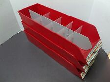 3 Fastener Bolt Screw Nut Parts Tray Bin Storage Cabinet Holder Red