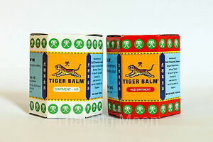 2 x 30g Tiger Balm Red White Pain relief muscle ointment rub free postage