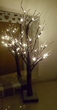 Christmas 2ft Twig Tree Snowy Effect 24 LED/ Warm White Lights / Tree/Decoration