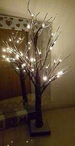 2ft Twig Tree Snowy Effect 24 LED/ Warm White Lights / Tree/Decoration