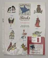 Vintage Neena's Designs Multi Format Disk Quilting and Bird Embroidery Designs