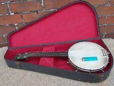 More details for old vintage 4 string steel banjo for restoration
