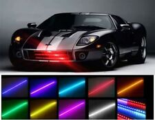 7 COLORE 48 LED RGB impermeabile Knight Rider LUCE SCANNER - FLASH STROBO KIT