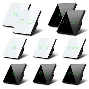 Glas Touch Lichtschalter Wandschalter Touchscreen Schalter LED Beleuchtung