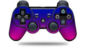 Skin for PS3 Controller Smooth Fades Hot Pink Blue CONTROLLER NOT INCLUDED