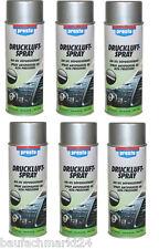 Presto Druckluftspray 6 x 400 ml Druckluft Spray Reinigungsspray