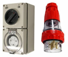 3PIN 20AMP - Switched Socket Outlet & PLUG COMBO! Industrial IP66 Rattings SAA
