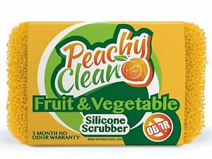 Peachy Clean Antimicrobial Fruit & Vegetable Silicone Cleaning Scubber Sponge