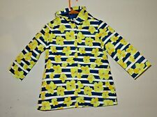 Gymboree Girls Size S (5-6) Blue Stripe Yellow Floral Hooded Raincoat