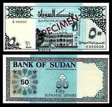 SUDAN 50 DINARS 1992 P-54bs SPECIMEN GEM UNC/***
