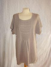 H&M Kleid Mama Gr.XL beige Strickkleid