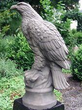 Steinfigur, frostfester vollmassiver STEIN ADLER Torwächter ca. 39cm Gartenfigur