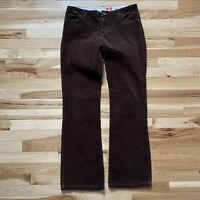 Vintage 1990s Guess Jeans USA Chocolate Brown Corduroy Boot Cut Pants Size 30
