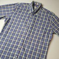 Peter Millar Men's Size M Blue Multicolor Plaid Long Sleeve Button Down Shirt