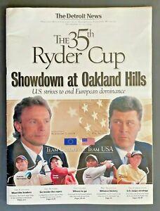 2004 THE 35th RYDER CUP Detroit News Insert Program Oakland Hills USA Europe PGA