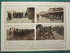 1915 WWI WW1 PRINT ~ SOUTH AFRICA PREPARATIONS AGAINST GERMAN SOUTH-WEST AFRICA
