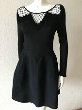 ALAIA black wool tulip skirt M, Women mini skirt UK12