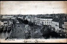 NANTES (44) BATEAUX & TRAIN au QUAI DE LA FOSSE & COMMERCES en 1924