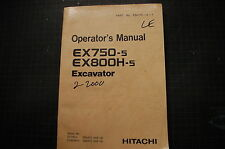 HITACHI EX750-5 EX800H Trackhoe Excavator Operator Owner Manual operation BOOK