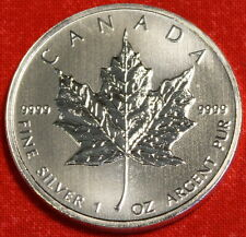 2011 CANADIAN MAPLE LEAF DESIGN 1 oz .999% SILVER ROUND BULLION COLLECTOR COIN