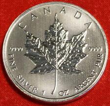 2011 CANADIAN MAPLE LEAF DESIGN 1 oz .9999% SILVER ROUND BULLION COLLECTOR COIN