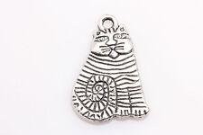 Free shipping Lots 15PCS Tibetan Silver Crafts cat Charms pendants 21*14mm za14