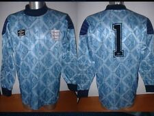 England shirt jersey L VINTAGE Shilton UMBRO FOOTBALL SOCCER TRIKOT PORTIERE