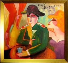 "Earl Linderman ""Café Napoleon"" Original Oil Painting on canvas SUBMIT BEST OFFER"
