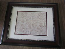 BIRCH BARK BITINGS, NATIVE AMERICAN,17 X 14 INCHES BEAUTIFUL FRAME, L FLOWER