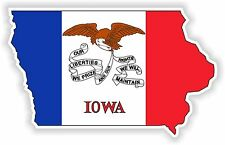 1x STICKER IOWA SILHOUETTE STATE decal USA MAP FLAG