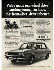 1972 RENAULT 12 4-door Sedan VTG PRINT AD