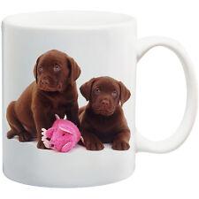 PERSONALISED MUG *chocolate Labrador puppies* ANY NAME OR TEXT  *GIFT (2)