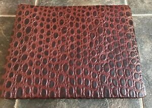 Vintage Horn Photo Album Embossed Leather Part Used Scrapbook Crafter B12