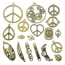 BULK Peace Sign Charms Assorted Lot Wholesale Pendants Connector Links 72pcs
