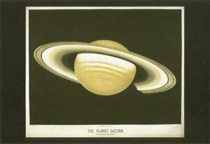 "POSTCARD Etienne Leopold Trouvelot ""The Planet Saturn"" MINT Unused"