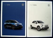 Prospekt brochure 2017 Fiat 500L * Fiat 500x (USA)
