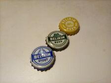 Belikin beer bottle caps, set of three
