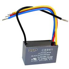 HQRP Capacitor para Hampton Bay de Ventilador 3uf+3.5uf+6uf, 4-Alambres / CBB61