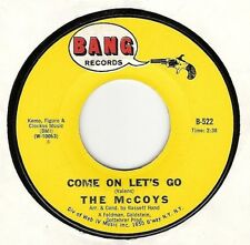 45RPM, McCOYS ' COME ON LETS GO [ RICHIE VALENS SONG] EX ' ROCK