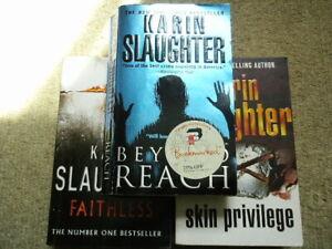 Karin Slaughter 3 books FAITHLESS / SKIN PRIVILEGE / BEYOND REACH