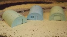 N-Scale Unfinished  3 Quonset Hut Buildings 1:160 Model Train Details