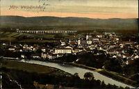 Mährisch Weisskirchen Hranice na Moravě Color AK ~1920 Gesamtansicht Viadukt