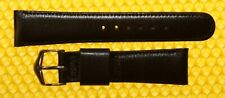 18mm Vintage JBC  Leather Watch Strap Band BLACK Made in USA <NWoT>