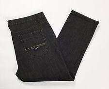 Jeans invernali W42 tg 56 felpati foderati imbottiti dritti neri vintage T1979