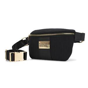 BADGLEY MISCHKA Sage Scuba and vegan Leather Belt Bag Fanny Pack