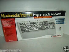 Digital Research PS/2 Programmable Keyboard 20 Hotkeys DRKEY124 w/Palmrest NEW
