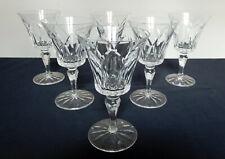 ST SAINT LOUIS 6 verres à eau en CRISTAL taillé modèle CAMARGUE SIGNES 17cm