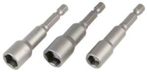 6mm 7mm 8mm Nut Driver Set Hex Socket Bit Tool Drill Adapter Extension 65mm 3pcs