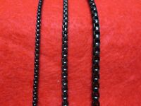 """16""""-60"""" 3/4/5MM BLACK  STAINLESS STEEL SMOOTH BOX ROPE CHAIN NECKLACE   BLACK"""