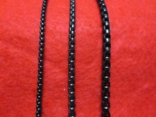 "16""-60"" 3/4/5MM BLACK  STAINLESS STEEL SMOOTH BOX ROPE CHAIN NECKLACE   BLACK"